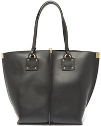 Chloé Vick Textured-leather Tote - Black