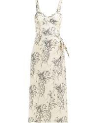 Zimmermann Wayfarer Pineapple Linen Dress - Multicolour