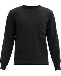 Snow Peak コットン ロングスリーブtシャツ - ブラック