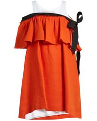 Isa Arfen - Mali Baby Off-the-shoulder Linen Dress - Lyst
