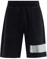 Givenchy 3dロゴテープ コットンショートパンツ - ブラック