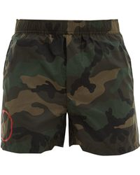 Valentino - V Logo Camouflage Print Swim Shorts - Lyst