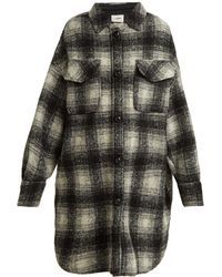 Étoile Isabel Marant - Gario Oversized Checked Wool Blend Coat - Lyst