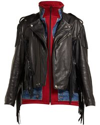 26c0c04278c50 Lyst - Women s Balenciaga Leather jackets On Sale