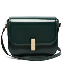 Valextra Iside Cross-body Leather Bag - Green