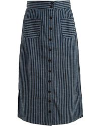 Ace & Jig - Bo High-rise Striped Cotton Skirt - Lyst