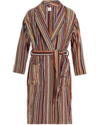 Paul Smith Cotton Towelling Signature Stripe Robe - Multicolore