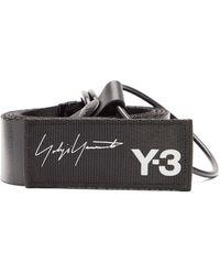 Y-3 Ceinture en toile enduite à imprimé logo - Noir