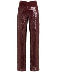 Ashish Sequinned High Rise Pants - Multicolor