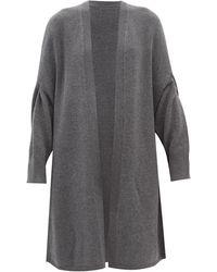 JOSEPH Open-front Wool Cape - Gray