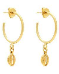 Isabel Marant - Shell Drop Hoop Earrings - Lyst