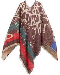Vivienne Westwood - Slogan Jacquard Woven Cotton Poncho - Lyst