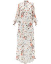 Erdem Robe de soirée en soie à imprimé floral Rosalind - Multicolore