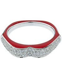 Raphaele Canot - Omg! Diamond, Enamel & White-gold Ring - Lyst