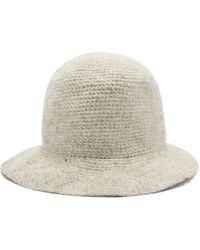 Reinhard Plank Knitted Wool Bucket Hat - White