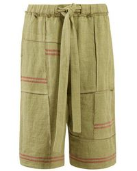 JW Anderson - Drawstring-waist Linen-canvas Shorts - Lyst