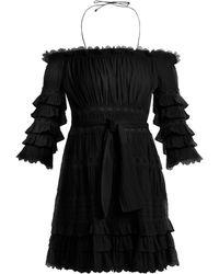 Zimmermann - Robe volantée en coton à épaules dénudées Corsair - Lyst