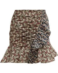Étoile Isabel Marant - Loz Patchwork Print Cotton Mini Skirt - Lyst