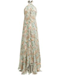 Johanna Ortiz - Vanuato Floral Print Silk Georgette Gown - Lyst