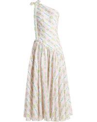 Emilia Wickstead - Simone One Shoulder Linen Maxi Dress - Lyst