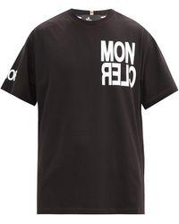 3 MONCLER GRENOBLE ロゴ コットンtシャツ - ブラック