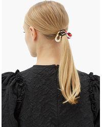 Miu Miu - Élastique à cheveux en cristal et fer à cheval - Lyst