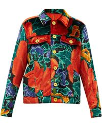 M Missoni フローラルアップサイクルベルベット シャツジャケット - マルチカラー