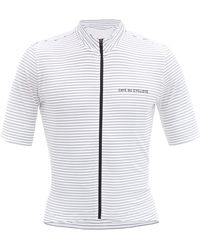 Café du Cycliste Francine Zipped Technical-jersey Cycling Top - White