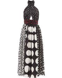 Dolce & Gabbana - ポルカドット ホルターネック シルククレープドレス - Lyst