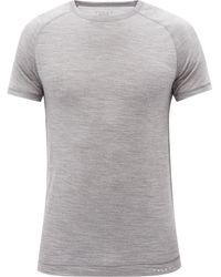 FALKE ラグランスリーブ ウールシルクtシャツ - グレー
