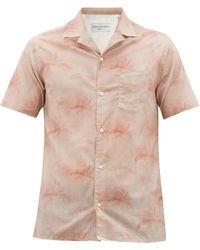Officine Generale - Dario Palm-print Cotton Shirt - Lyst