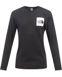The North Face ロゴ ロングスリーブ コットンtシャツ - ブラック