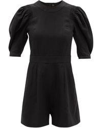 Three Graces London Meredith Cutout-back Linen Jumpsuit - Black