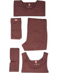 Lunya Restore Pyjama Travel Set - Multicolour
