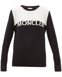 Moncler - ロゴインターシャ ウールブレンドセーター - Lyst