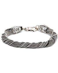 Emanuele Bicocchi - Wrapped Sterling-silver Bracelet - Lyst
