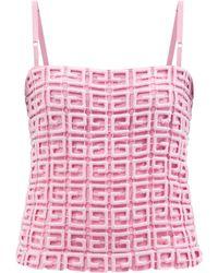 Givenchy 4gギピュールレース キャミソール - ピンク