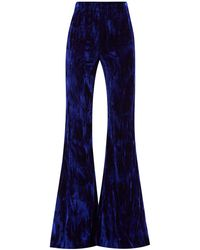 16Arlington ブリズベン ハイライズ サテン フレアスーツパンツ - ブルー