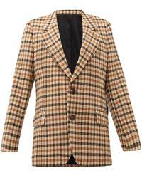 AMI チェック ウール シングルジャケット - マルチカラー