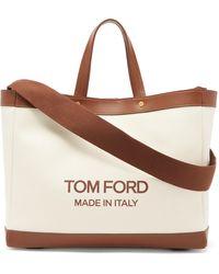 Tom Ford Tスクリュー キャンバストートバッグ - マルチカラー