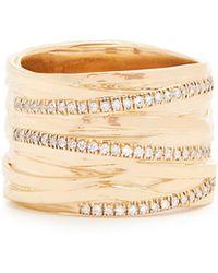 Alison Lou | Diamond & Yellow-gold Fettuccine Ring | Lyst