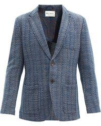 Etro ニット シングルジャケット - ブルー