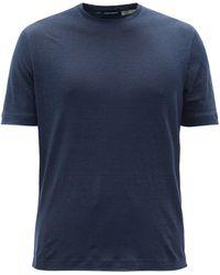 Thom Sweeney Linen-jersey T-shirt - Blue