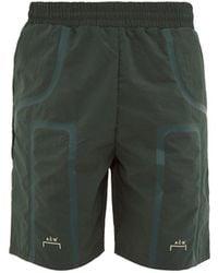 A_COLD_WALL* * Logo-print Technical Shorts - Green