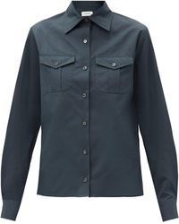 Lemaire - Patch-pocket Cotton-poplin Shirt - Lyst