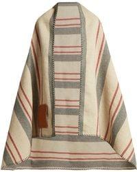 Loewe Striped Wool Blanket - Brown