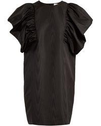 MSGM   Oversized Ruffled-sleeve Moire Dress   Lyst