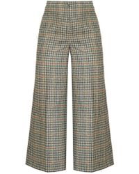 Isabel Marant - Trevi High-rise Wide-leg Cropped Trousers - Lyst