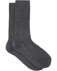 Raey Pack Of Three Ribbed Silk Socks - Gray