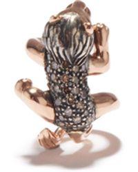 Bibi Van Der Velden The Lazy Lion ダイヤモンド ローズゴールドイヤーカフ - マルチカラー